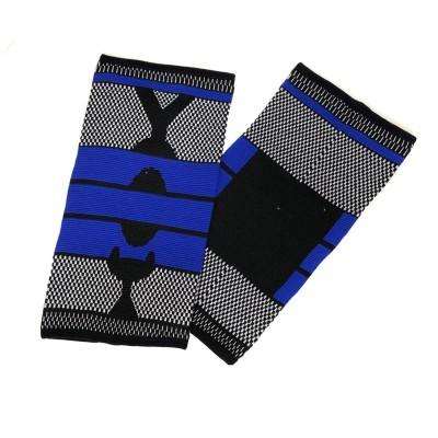 Эластичные наколенники черно-синие удлиненные - Сайд-Степ магазин спортивной экипировки