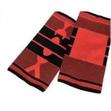 Эластичные наколенники красно-черные удлиненные