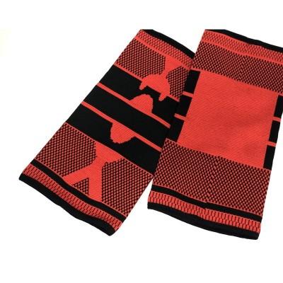 Эластичные наколенники красно-черные удлиненные - Сайд-Степ магазин спортивной экипировки