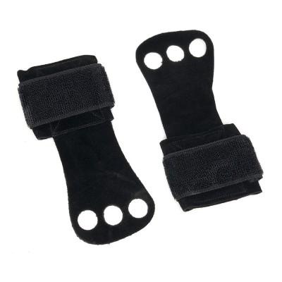 Гимнастические накладки черные (1 слой кожи) - Сайд-Степ магазин спортивной экипировки