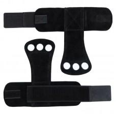Гимнастические накладки черные (2 слоя кожи)
