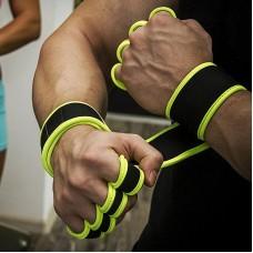 Неопреновые перчатки для турника черно-желтые