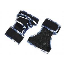 Неопреновые перчатки для турника синий камуфляж