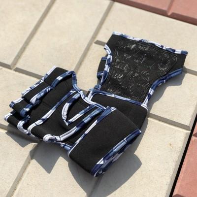 Неопреновые перчатки для турника синий камуфляж - Сайд-Степ магазин спортивной экипировки