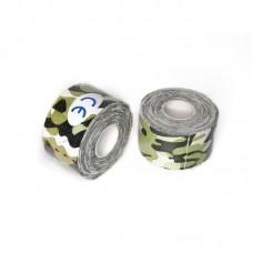 Кинезио тейп светло-зеленый камуфляж 3,8 см
