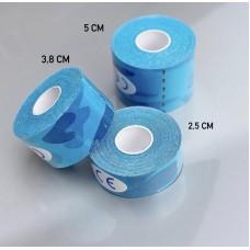 Кинезио тейп синий камуфляж 5 см
