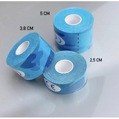 Кинезио тейп синий камуфляж 5 см - Сайд-Степ магазин спортивной экипировки