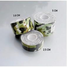 Кинезио тейп светло-зеленый камуфляж 5 см