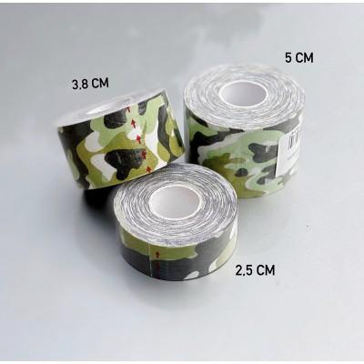Кинезио тейп светло-зеленый камуфляж 5 см - Сайд-Степ магазин спортивной экипировки