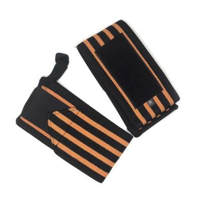 Кистевые бинты черно-оранжевые - Сайд-Степ магазин спортивной экипировки