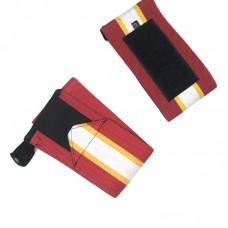 Кистевые бинты красные с белой полосой