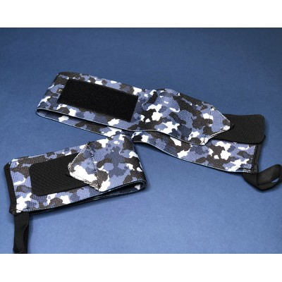 Кистевые бинты синий камуфляж - Сайд-Степ магазин спортивной экипировки