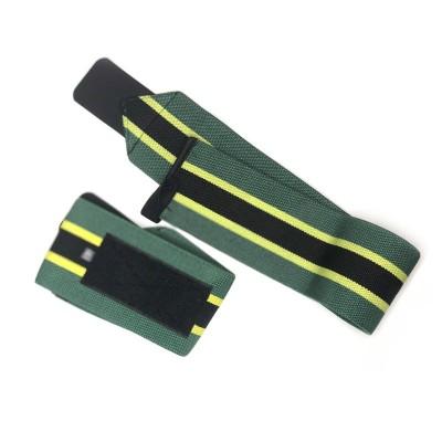 Кистевые бинты зеленые с черной полосой - Сайд-Степ магазин спортивной экипировки