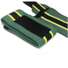 Кистевые бинты зеленые с черной полосой