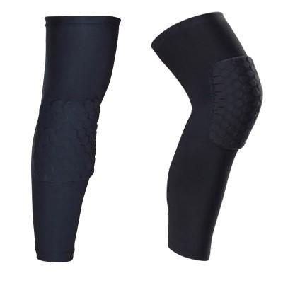 Компрессионные чулки с защитой колена черные - Сайд-Степ магазин спортивной экипировки