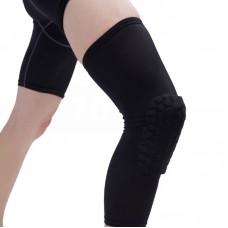 Компрессионные чулки с защитой колена черные