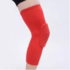 Компрессионные чулки с защитой колена красные