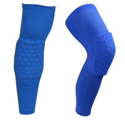 Компрессионные чулки с защитой колена синие - Сайд-Степ магазин спортивной экипировки
