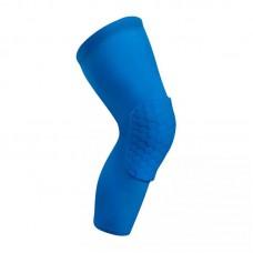 Компрессионные чулки с защитой колена синие