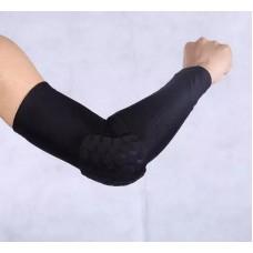 Компрессионные рукава с защитой локтя черные