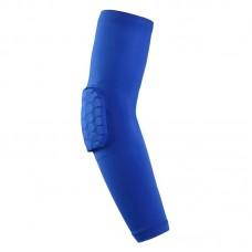 Компрессионные рукава с защитой локтя синие