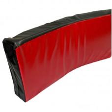 Макивара гнутая черно-красная 70*35 см