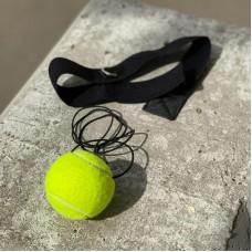 Боксерский мячик на голову с эластичной повязкой