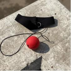 Мяч на резинке для бокса красный (80 гр)