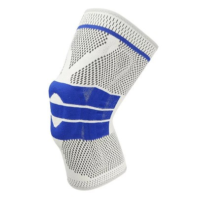 Наколенники для фиксации и защиты сустава серо-синие - Сайд-Степ магазин спортивной экипировки