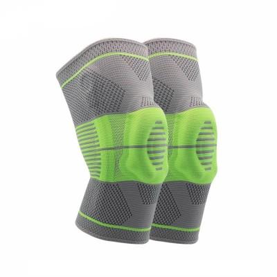 Наколенники для фиксации и защиты сустава серо-зеленые - Сайд-Степ магазин спортивной экипировки