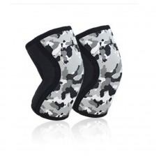 Неопреновые наколенники черно-белый камуфляж 7 мм