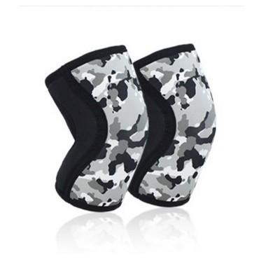 Неопреновые наколенники черно-белый камуфляж 7 мм - Сайд-Степ магазин спортивной экипировки