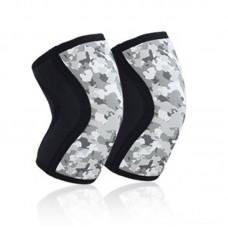 Неопреновые наколенники черно-серый камуфляж 7 мм