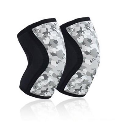 Неопреновые наколенники черно-серый камуфляж 7 мм - Сайд-Степ магазин спортивной экипировки
