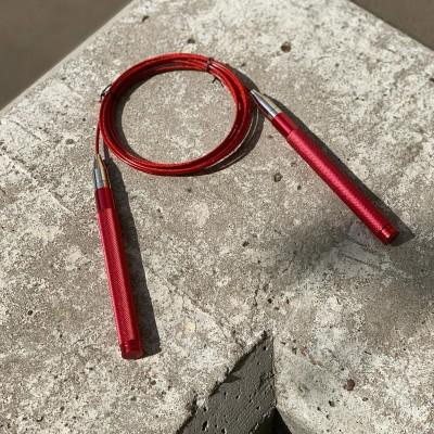 Скакалка self-locking скоростная красная (метал. ручки) - Сайд-Степ магазин спортивной экипировки