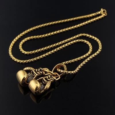 Сувенирный кулон с цепочкой боксерские перчатки gold в наличии в магазине Сайд-Степ