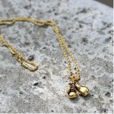 Сувенирный кулон с цепочкой боксерские перчатки mini gold