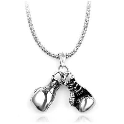 Сувенирный кулон с цепочкой боксерские перчатки mini silver в наличии в магазине Сайд-Степ
