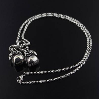 Сувенирный кулон с цепочкой боксерские перчатки silver в наличии в магазине Сайд-Степ