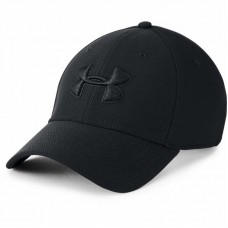 Бейсболка Under Armour heathered blitzing 3.0 black/black
