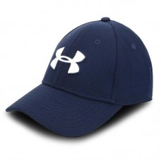 Бейсболка Under Armour heathered blitzing 3.0 blue/white