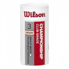 Воланы Wilson championship 3pc wh 77